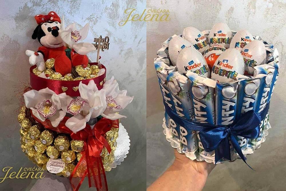 Torte od slatkiša - Cvećara Jelena